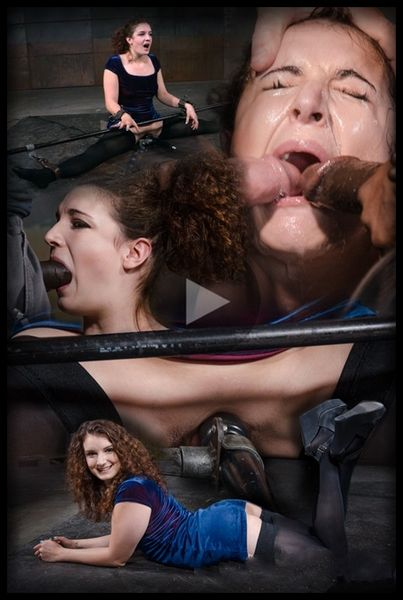 (19.10.2015) Curly haired newbie Endza bound into the splits and facefucked by BBC, drooling orgasms