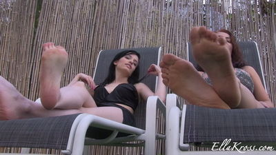 Ella Kross - Worship and Cum on Our Feet!