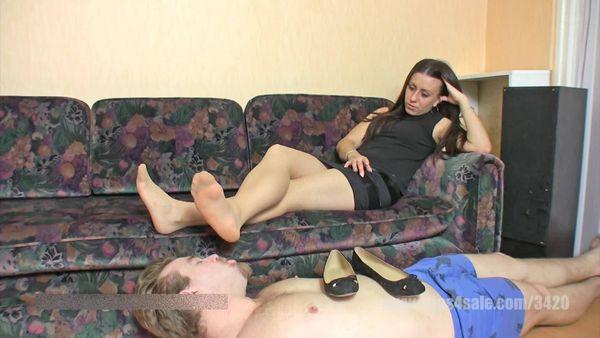 ElegantFemdom - femdom nylon feet smelling