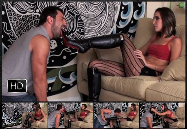 GlamBitches - Abusive girlfriend in high heels torments her boy