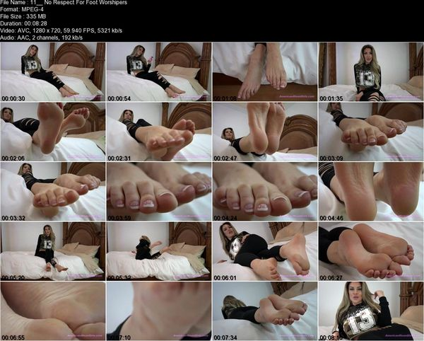 Superior Goddess Brooke - No Respect For Foot Worshipers (720 HD)