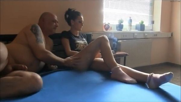 Bratty Daughter Is Forced To Give A Handjob To Dad HD