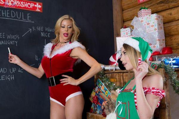 MomKnowsBest – Alexis Fawx and Angel Smalls – Mrs Clauss Little Helper HD