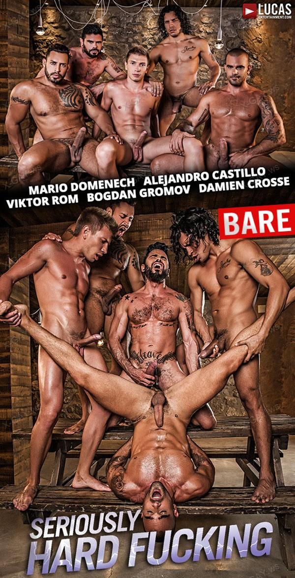 LucasEntertainment: Seriously Hard Fucking, Bareback Orgy (Alejandro Castillo, Viktor Rom, Bogdan Gromov, Mario Domenech, Damien Crosse)