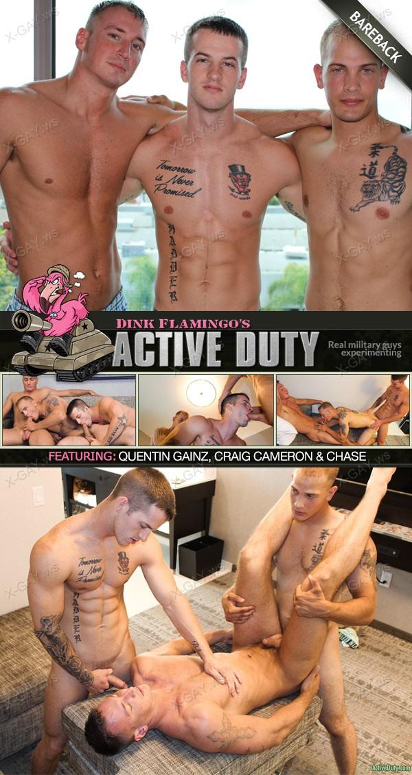 ActiveDuty: Quentin Gainz, Chase, Craig Cameron (Bareback)