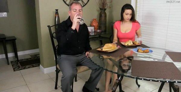 Having Dinner with her Stepdad HD
