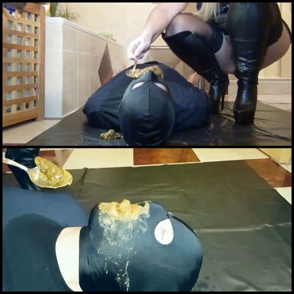 Perverse-FemDom session! Shit, Facesitting, spit and pee for slave! Part 3