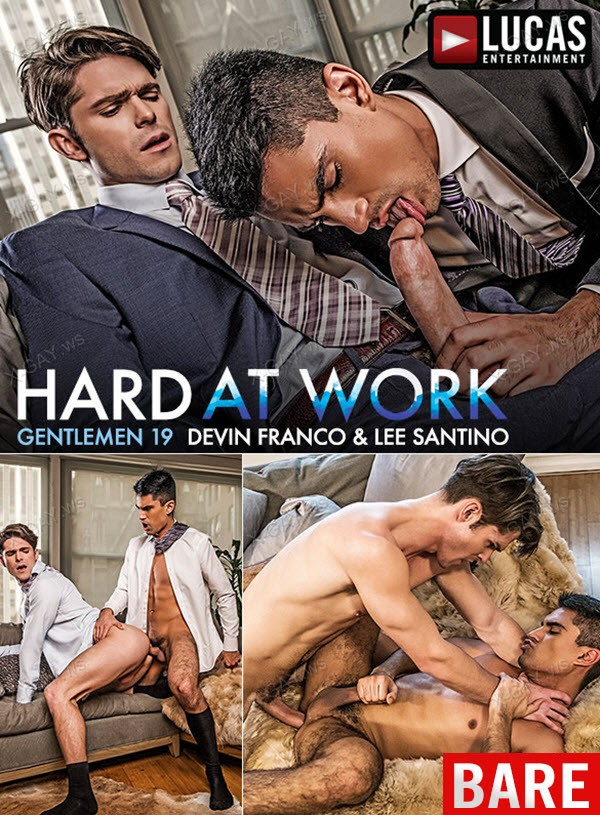 LucasEntertainment: Devin Franco And Lee Santino Flip Fuck In Suits (Bareback)