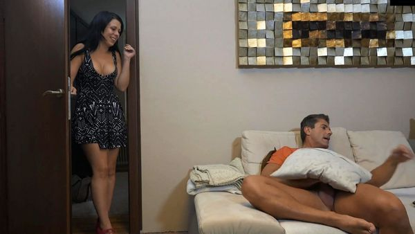 Dad busted quickie – Cum on tongue HD