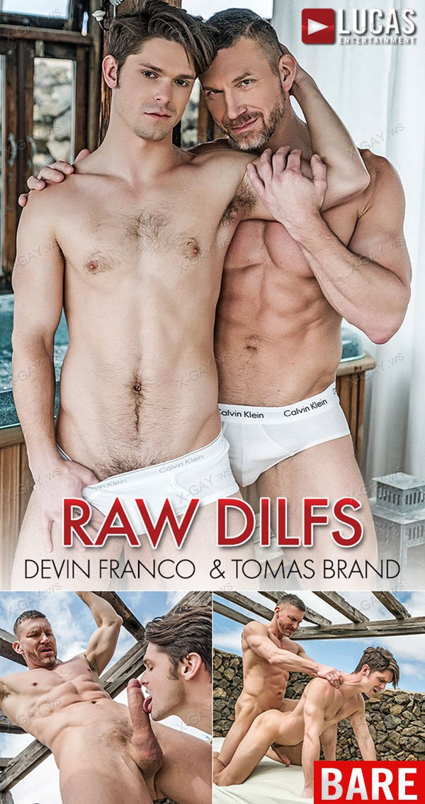 LucasEntertainment: Devin Franco Bottoms For Muscle-Daddy Tomas Brand BAREBACK