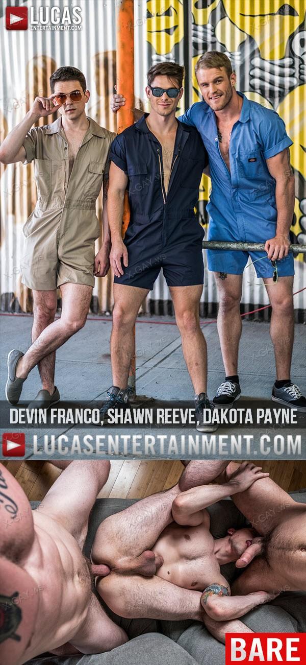 LucasEntertainment: Rompers and Raw Fucking (Devin Franco, Shawn Reeve, Dakota Payne) (Bareback)