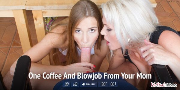 Alexis Crystal & Kathy Anderson – One Coffee And Blowjob From Your Mom VR HD