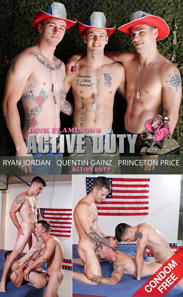 ActiveDuty: Quentin Gainz, Ryan Jordan, Princeton Price (Bareback)