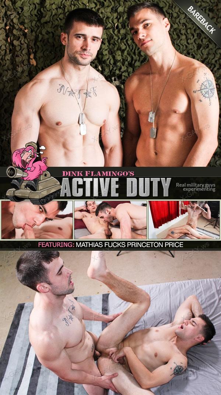 ActiveDuty: Mathias, Princeton Price (Bareback)