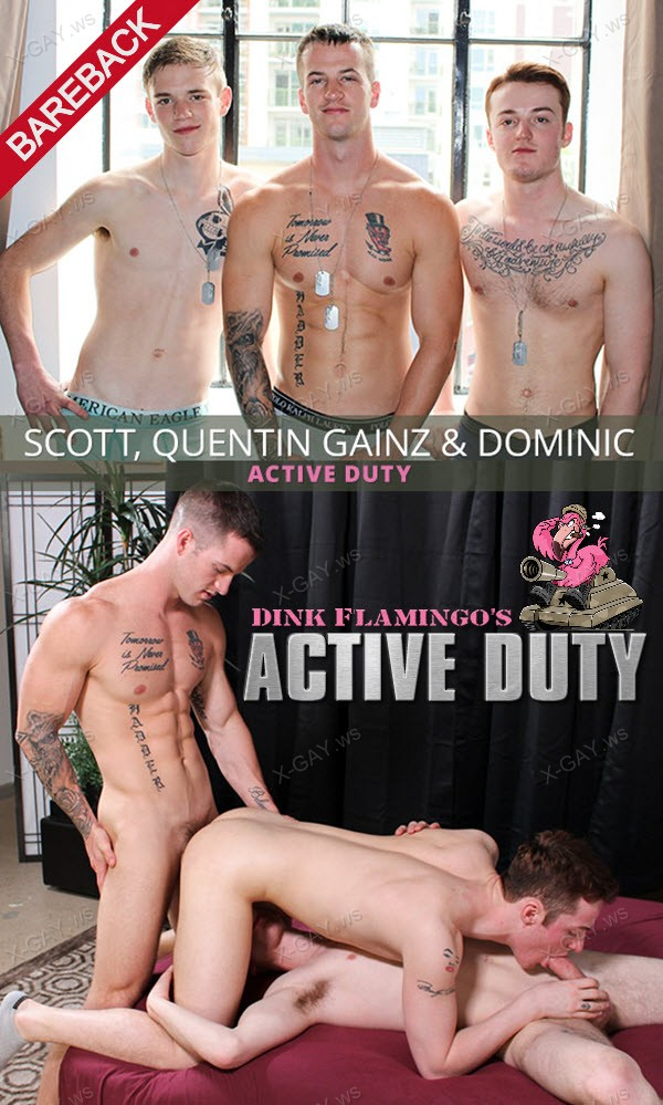 ActiveDuty: Scott, Dominic, Quentin Gainz (Bareback)