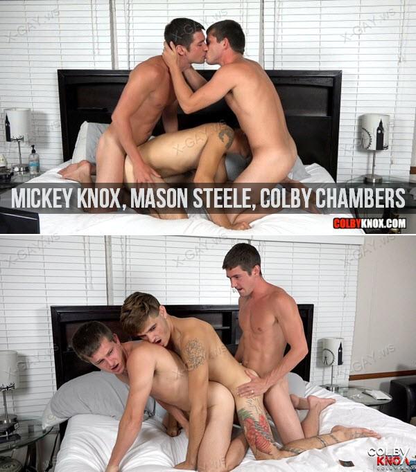 ColbyKnox: Live Fun with Mason Steele (Mickey Knox, Mason Steele, Colby Chambers)