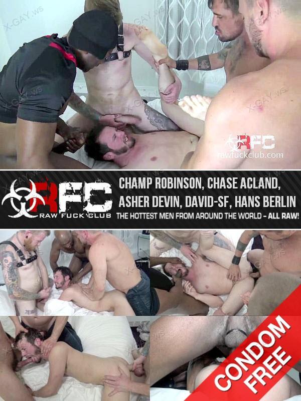 RawFuckClub: Fuck You Like an Animal (Champ Robinson, Chase Acland, Asher Devin, David-SF, Hans Berlin)