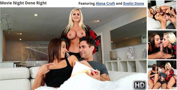 Movie Night Done Right – Alena Croft and Evelin Stone HD