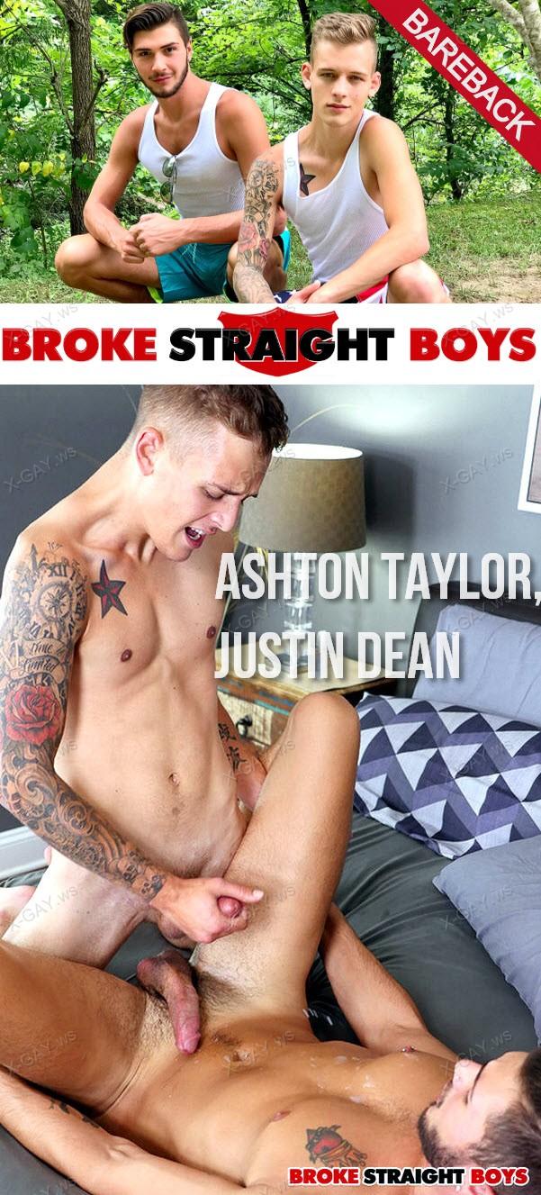 BrokeStraightBoys: Ashton Taylor's Long Dick Pushing Inside Justin Dean (Bareback)