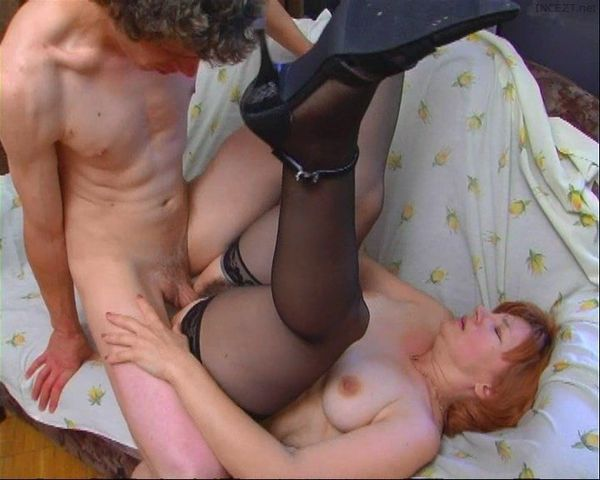 Amateur Russian Mom Son