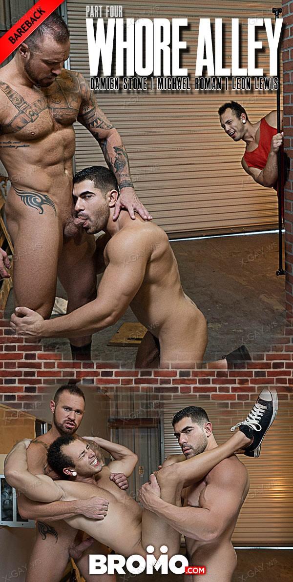 Bromo: Whore Alley, Part 4 (Damien Stone, Leon Lewis, Michael Roman) (Bareback)