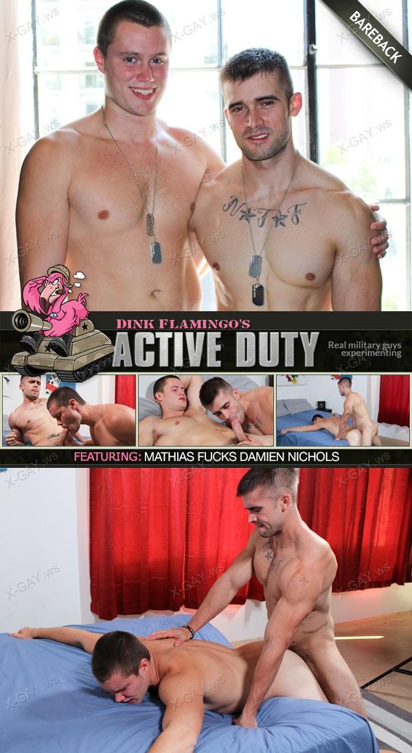 ActiveDuty: Mathias, Damien Nichols (Bareback)