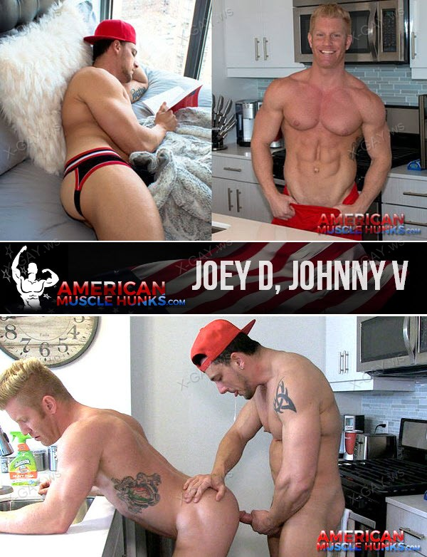 AmericanMuscleHunks: Joey D, Johnny V [Full]
