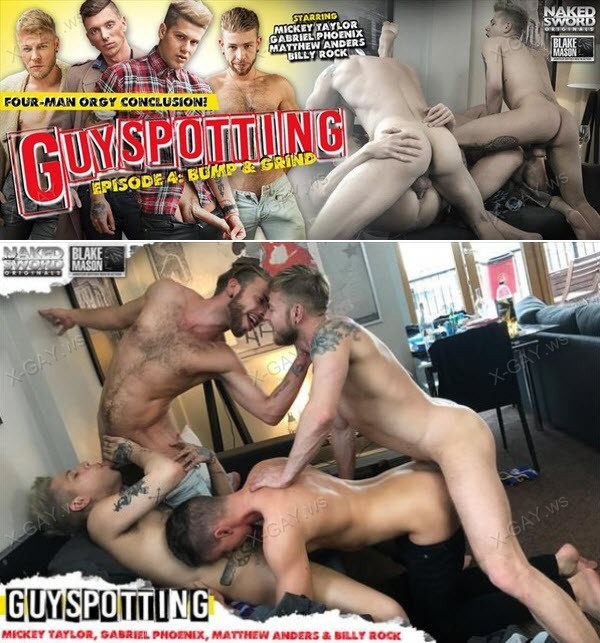 NakedSword: Guyspotting (Matthew Anders, Mickey Taylor, Gabriel Phoenix, Billy Rock)