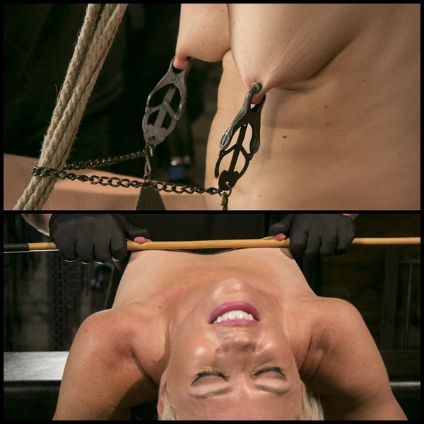 Blonde Buff MILF Helena Locke Made to Cum in Tight Rope Bondage | HD 720P | Release Year: October 12, 2017