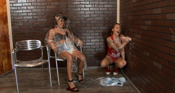 REAL Twin Sisters – She Can't Avoid The Slime Wave Forever! Get You Some! HD