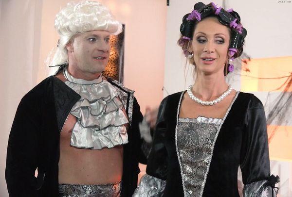 Ukrainian beauty Shrima Malati drilled hard by stepfather in Halloween fuck HD