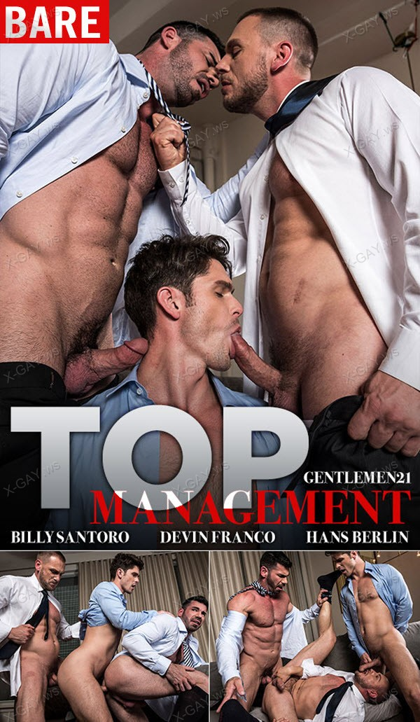 LucasEntertainment: Hans Berlin, Billy Santoro, Devin Franco (Bareback)