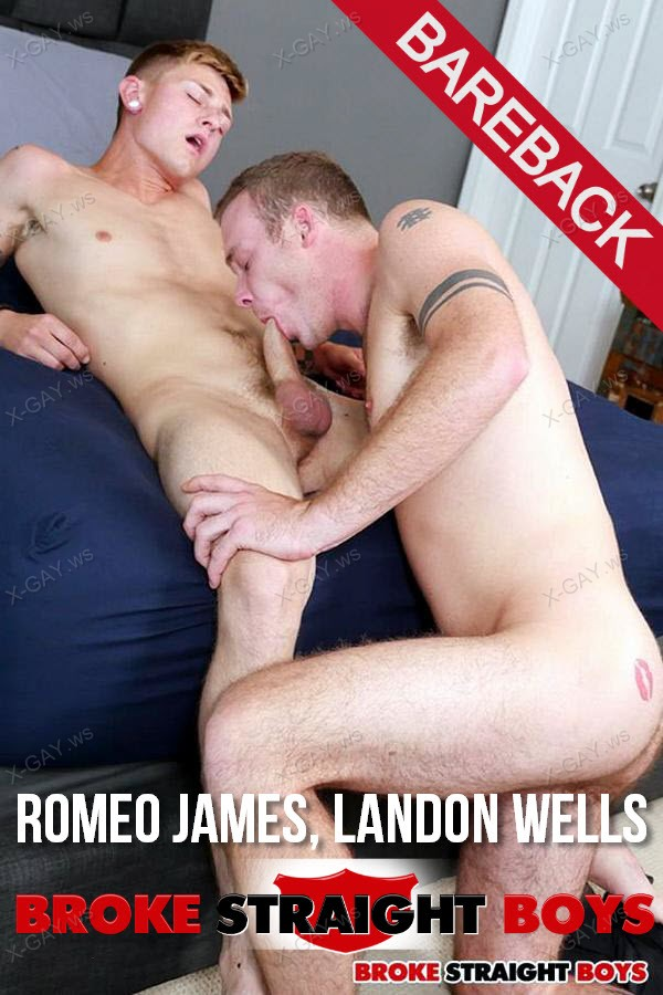 BrokeStraightBoys: Romeo James, Landon Wells (Bareback)