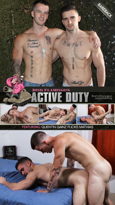 ActiveDuty: Mathias, Quentin Gainz (Bareback)