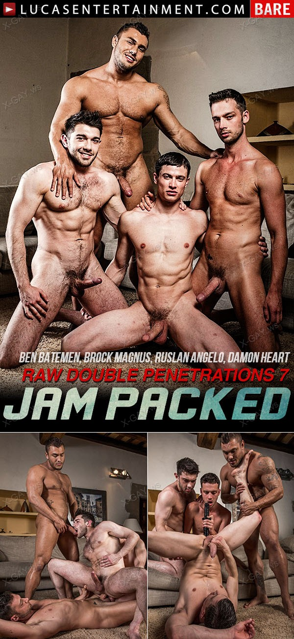 LucasEntertainment: Ben Batemen, Brock Magnus, Ruslan Angelo, Damon Heart (Raw Double Fucking)