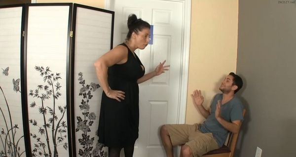 Stacie Starr Gives her Son a Dressing Room Handjob and Blowjob HD