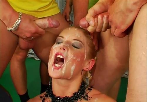 Bakers dozen bukkake porn pics