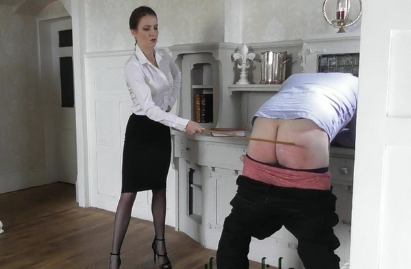 Governess kenworthy punishes the panty snatcher part two femdom spanking photo