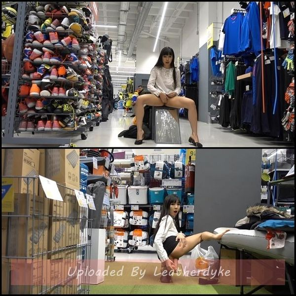 Get Busted In Sports Store Anal & Squirt with Littlesubgirl