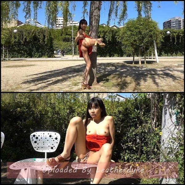 Littlesubgirl - Public Double Headed Dildo ALL IN ASS