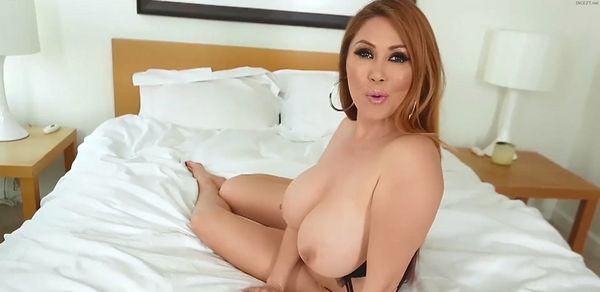 Lucky Son Tit Fucks his Big Tit Mom HD 1080p