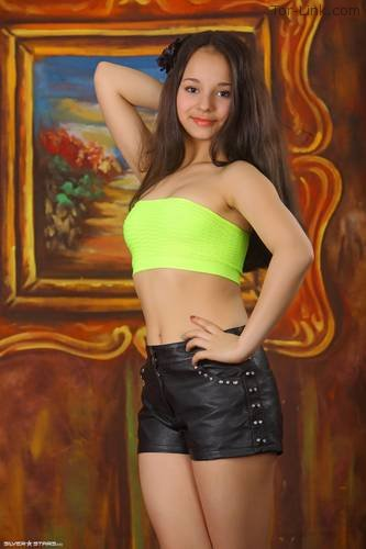 Silver-Stars Sabina - Leather Shorts 1