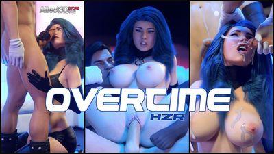 [3D Porn Comic] [HZR] Overtime [sci-fi]