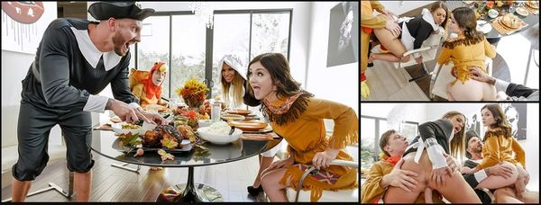 Thanksgiving Snatch Stuffing – Brooklyn Chase And Rosalyn Sphinx HD [Untouched 1080p]