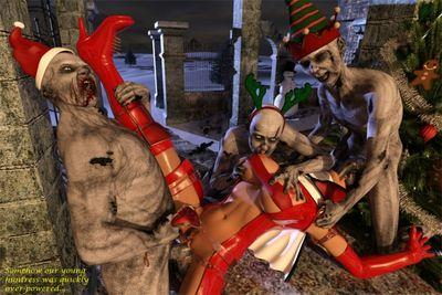[3D Porn Comic] [GreenT] Zombie Hunter Xmas [rape]