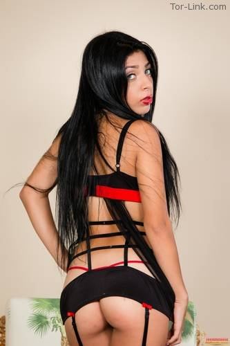 TeenModels4Bitcoin Samantha - set 6 Red and Black Lingerie