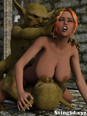 [3D Porn Comic] [Sting3D] Wife for Goblins [rape]