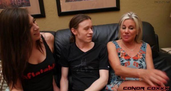 Taboo Threeway With GF & Her Mom HD