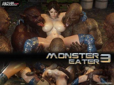 [3D Porn Comic] [Jared999D] Monster Eater Part 1-3 [rape]