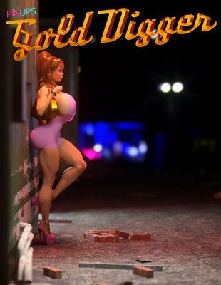 [3D Porn Comic] [P1NUPS] Gold Digger [public sex]